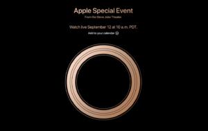 apple 300x189 - 【ガジェット/スマホ】Apple新製品の発表は2018年9月12日に決定!新型iPhone来るか?
