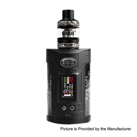authentic sigelei gw 257w vw variable wattage mod f tank kit black gun metal zinc alloy stainless steel 2 x 18650 thumb - 【海外】「LiitoKala Lii-402 Battery Smart Charger」 「Aleader Caesar 100W Stable Wood Box Mod」「IQOS Leather Case」「Joyetech Ego AIO Mansion kit 1300mAh」