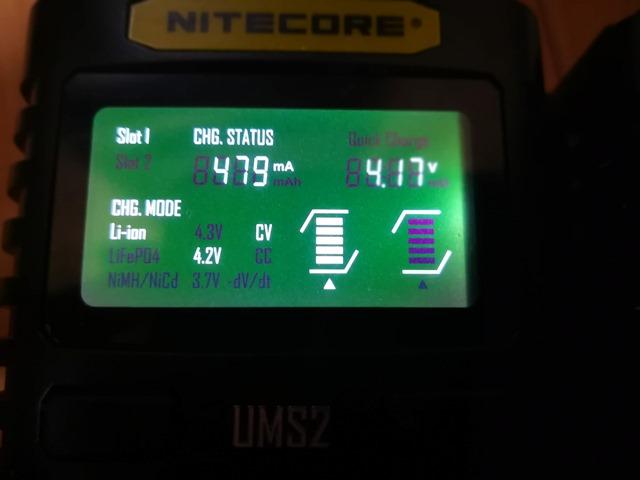 IMG 20181026 010855 thumb - 【レビュー】Nitecore UM2/UMS2/UM4/UMS4バッテリーチャージャー(充電器)レビュー。最大3A急速充電対応ナイトコアの普及価格帯コスパ充電器。リチウムマンガンバッテリー最強