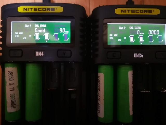 IMG 20181026 010948 thumb - 【レビュー】Nitecore UM2/UMS2/UM4/UMS4バッテリーチャージャー(充電器)レビュー。最大3A急速充電対応ナイトコアの普及価格帯コスパ充電器。リチウムマンガンバッテリー最強
