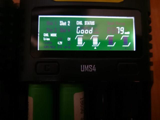 IMG 20181026 010952 thumb - 【レビュー】Nitecore UM2/UMS2/UM4/UMS4バッテリーチャージャー(充電器)レビュー。最大3A急速充電対応ナイトコアの普及価格帯コスパ充電器。リチウムマンガンバッテリー最強