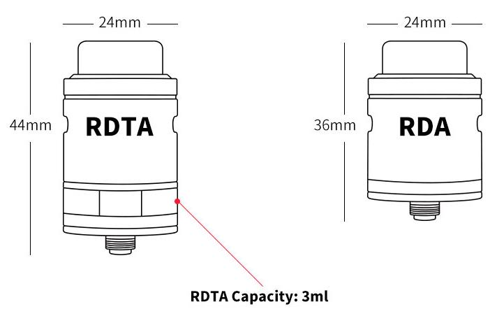 QQjietu201 - 【レビュー】Wotofo Faris RDTA アトマイザー。RDTAとRDA両用の凄いヤツ!!爆煙フレーバーチェイサーモデルのアトマ。