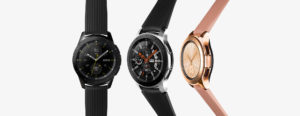 galaxy watch silver black rosegold 300x116 - 【新製品】ゴルファー必携!スコアを伸ばすならGalaxy Watch Golf Edition!