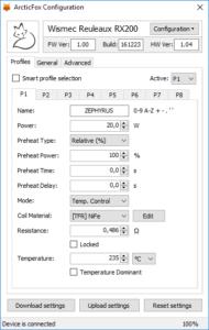 toolbox configuration1 190x300 - 【ニュース】Joyetech、Wismecユーザ必見!ArcticFoxファームウェアでテクニカルにカスタマイズする