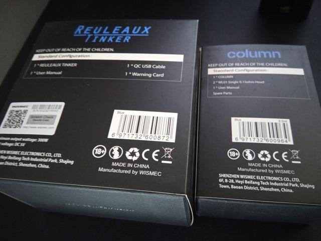 IMG 20181122 110015 thumb - 【レビュー】Wismec Reuleaux Tinker with COLUMNスターターキットレビュー。カラフルなデザイン&300W出力のパワフルなMODとタンク。