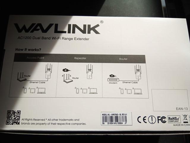 IMG 20181126 114502 thumb 1 - 【レビュー】「Wavlink 11ac/n/a/g/b無線LAN中継器」予想以上に使える激安Wi-Fiエクステンダー!有線LANポート2つで802.11 ac/b/g/n/aに対応して最大1200Mbps。家中に無線LANを飛ばそう【iPhone X/XS/XR/XS MaX対応】