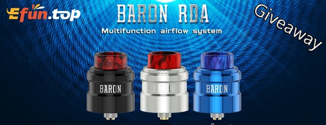 baron giveaway thumb - 【セール】ブラックフライデー&サイバーマンデーセールまとめ2018!!FastTech,GearBestほかVAPEやガジェットの超得セール。Amazonサイバーマンデー、楽天ブラックフライデーもお得【随時更新】