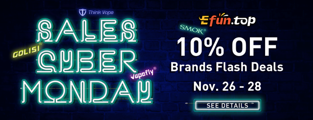 monday banner 1 - 【セール】ブラックフライデー&サイバーマンデーセールまとめ2018!!FastTech,GearBestほかVAPEやガジェットの超得セール。Amazonサイバーマンデー、楽天ブラックフライデーもお得【随時更新】