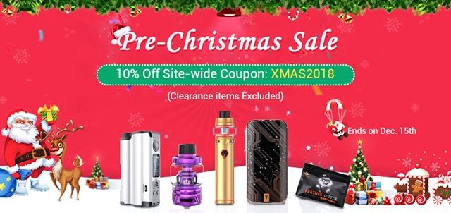 Sourcemore Christmas Pre sale - 【セール】2018年VAPE/ガジェットXMAS(クリスマス)セール情報まとめ!!年末の大型割引セールをまとめてみたよ。