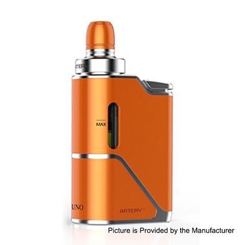 authentic artery uno 1500mah all in one starter kit orange 35ml 07 ohm thumb - 【海外】「Acevape Magic Master RDA」「Acevape Bomb Cat RDA」「Artery Pal 2 1000mAh Pod System Starter Kit」