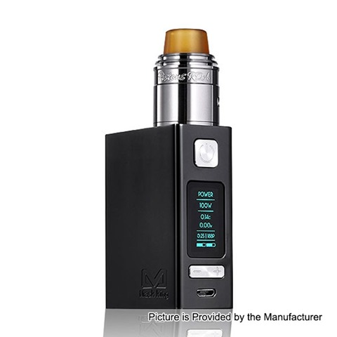 authentic maskking t more 2800mah 100w tc vw variable wattage box mod piston rda kit black 5100w thumb - 【海外】「Vaptio VEX 100W VW APV Box Mod Kit」「Acrohm Fush LED Semi-Mechanical Tube Mod」「Maskking T-More 2800mAh 100W TC VW Variable Wattage Box Mod + Piston RDA Kit」「Maskking Guardian 1000mAh Starter Kit」