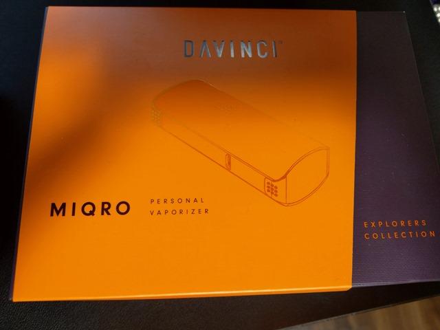 IMAG0421 thumb - 【レビュー】Davinci MIQRO(ダビンチマイクロ)ヴェポライザーレビュー!33%小型化された18350バッテリー対応ポータブルなヴェポライザー。【Explorerコレクション】