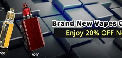 InsertPic 0757 thumb 400x192 - 【セール】Wismecブランドの最新VAPE MOD製品が20%オフ!「Wismec V200&V80スターターキット」いきなりVAPEのWismec新製品を2019年お安くゲットしちゃいましょう