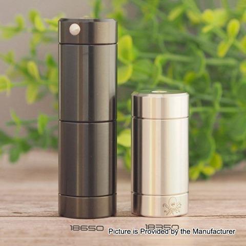 authentic cthulhu tube dual mosfet mod silver 1 x 18350 18650 24mm diameter thumb - 【海外】「GeekVape Zeus X RTA」「Vaporesso Sky Solo 1400mAh Starter Kit」「HUGO VAPOR Rader ECO 200W」