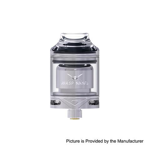authentic oumier wasp nano rta rebuildable tank atomizer silver pctg stainless steel glass 2ml 23mm diameter thumb - 【海外】「GeekVape Zeus X RTA」「Vaporesso Sky Solo 1400mAh Starter Kit」「HUGO VAPOR Rader ECO 200W」