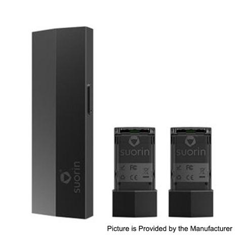 authentic suorin edge 10w 230mah pod system device w dual removable batteries black thumb - 【海外】「GeekVape Zeus X RTA」「Vaporesso Sky Solo 1400mAh Starter Kit」「HUGO VAPOR Rader ECO 200W」