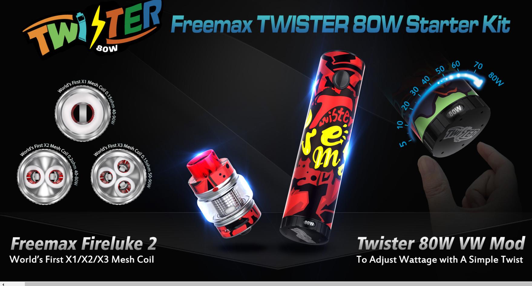 f81fd2e4c52864042852c112ce927ae2 - 【レビュー】Freemax社謹製!Twister 80W 爆煙 Starter Kit+タンクセットを吸ってFreemaxの本気モードを感じた