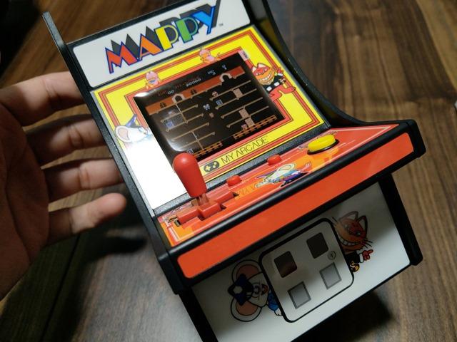 IMAG1311 thumb - 【レビュー】男心くすぐり度MAX!?「レトロアーケード」コンパクトな4機種一挙レビュー「ディグダグ」「マッピー」「ギャラガ」「パックマン」 【アーケードゲーム機/筐体】