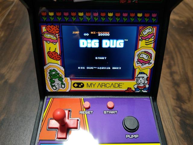 IMAG1316 thumb - 【レビュー】男心くすぐり度MAX!?「レトロアーケード」コンパクトな4機種一挙レビュー「ディグダグ」「マッピー」「ギャラガ」「パックマン」 【アーケードゲーム機/筐体】