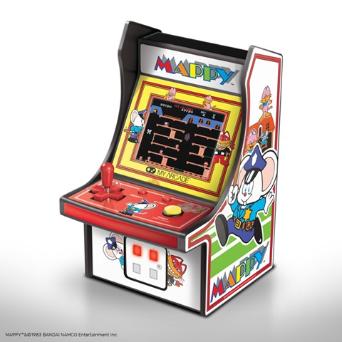 MAPPY thumb - 【レビュー】男心くすぐり度MAX!?「レトロアーケード」コンパクトな4機種一挙レビュー「ディグダグ」「マッピー」「ギャラガ」「パックマン」 【アーケードゲーム機/筐体】