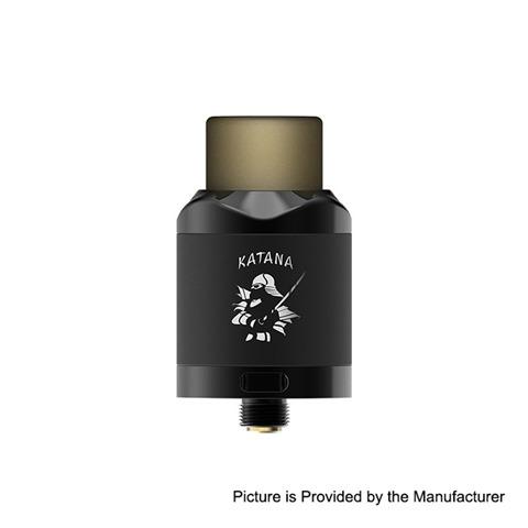 authentic ijoy katana rda rebuildable dripping atomizer w bf pin mirror black stainless steel 24mm diameter thumb - 【海外】「Aleader Orbit 100W TC VW APV Box Mod」「IJOY Katana RDA」「Voopoo X217 217W」「eXvape eXpromizer V4 MTL RTA」