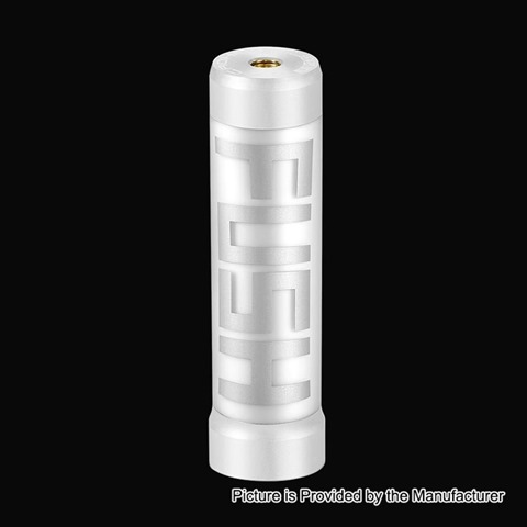 authentic acrohm fush led semi mechanical tube mod white 1 x 18650 26mm diameter thumb - 【海外】 「CKS Dagger Junior 1000mAh CBD Vaporizer Starter Kit」「Acrohm Fush LED Semi-Mechanical Tube Mod - White, 1 x 18650」「5GVape Kool Disposable Tank Clearomizer」