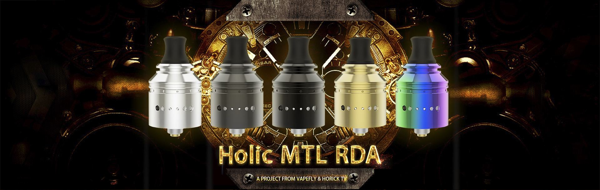 Holic MTL RDA 01 1 - 【レビュー】Vapefly Holic MTL RDAレビュー。あの人気ユーチューバー『ホリックTV』のこーへいさんとVapeflyのコラボアトマイザーが登場! 私も愛用しているGalaxiesシリーズのメーカーなので期待度大!