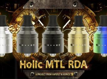 Holic MTL RDA 01 2 343x254 - 【レビュー】Vapefly Holic MTL RDAレビュー。あの人気ユーチューバー『ホリックTV』のこーへいさんとVapeflyのコラボアトマイザーが登場! 私も愛用しているGalaxiesシリーズのメーカーなので期待度大!