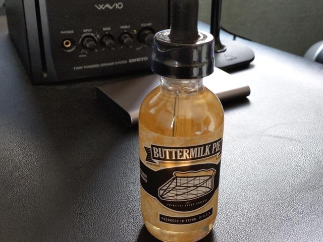 IMAG4254 thumb - 【レビュー】Primitive Vapor Co BUTTERMILK PIE(バターミルクパイ)リキッドレビュー。あま~い!バターミルクが脳髄を刺激するお味