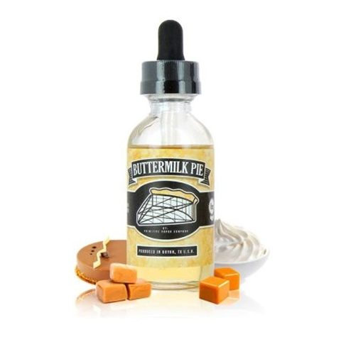 buttermilk pie 60ml primitive vapor co xsmokers.gr thumb 480x475 - 【レビュー】Primitive Vapor Co BUTTERMILK PIE(バターミルクパイ)リキッドレビュー。あま~い!バターミルクが脳髄を刺激するお味