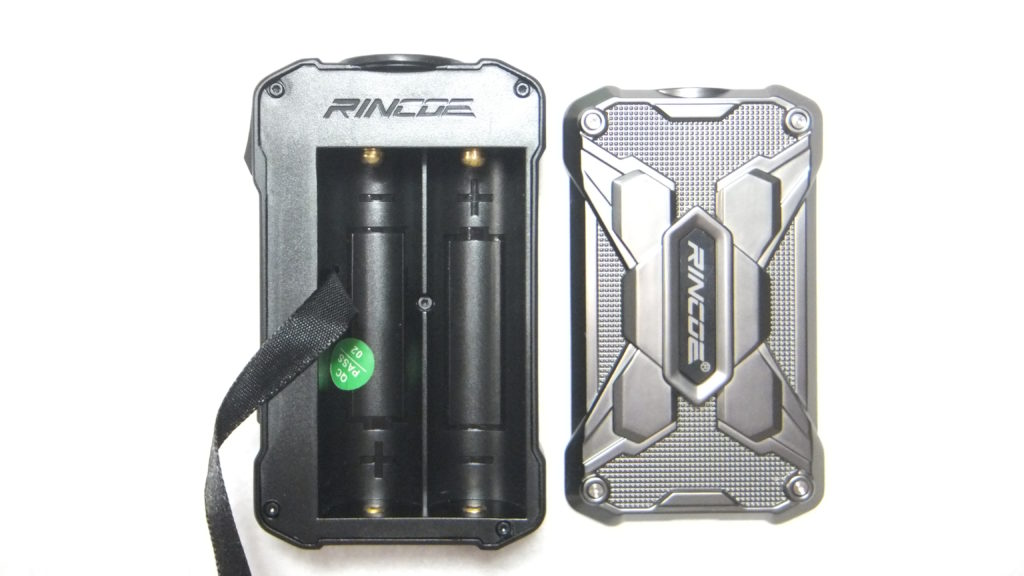 DSCF2403 e1566296421497 1024x576 - 【レビュー】RINCOE MECHMAN 228W MOD ちょっと重いけど、派手なデザインのいかついデュアルバッテリーモッドの紹介です!