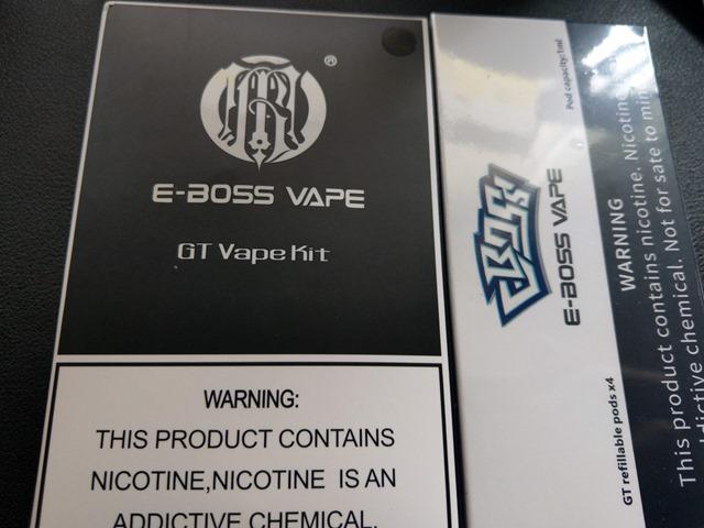 IMAG7214 thumb - 【レビュー】E-BOSS VAPE GT VAPE Kitレビュー!POD型コンパクトなスターターキット。吸えば自動でミスト湧く!リアタバ代わりにどうですか?