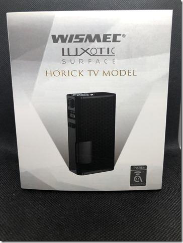 IMG 2953 thumb - 【レビュー】①WISMEC LUXOTIC SURFACE HORICK TV MODEL(ウィズメック ルクソティック ホリックTV モデル) レビュー~限定500台の高性能極小テクニカルスコンカー登場・開封編(ΦдΦ)~