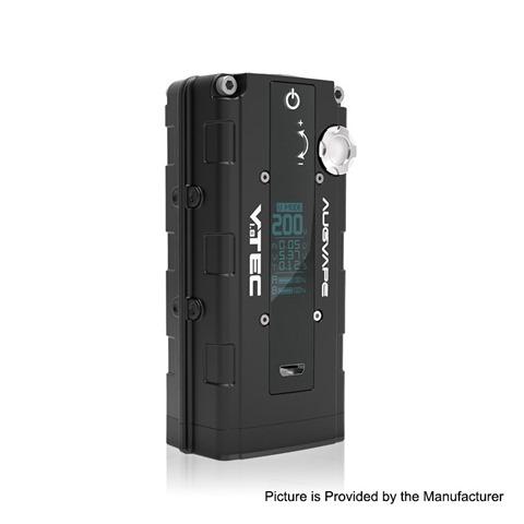 authentic augvape vtec18 200w vv variable voltage box mod black zinc alloy 2 x 18650 5200w thumb - 【海外】「YiHi SXmini X Class 200W Box Mod」「SMOK RPM40 Pod Mod Kit 1500mah」「Yachtvape Meshlock RDA 24mm」