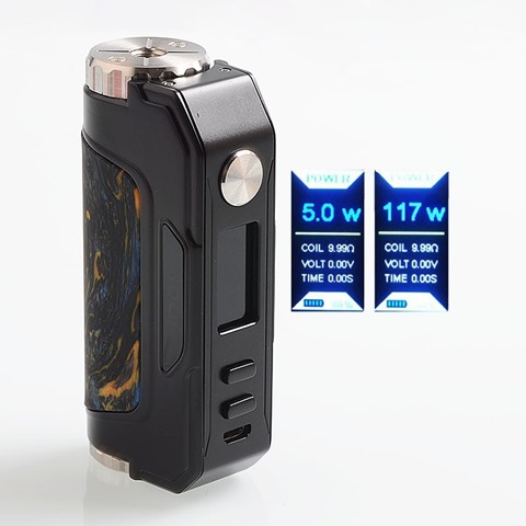 authentic iooi i007 117w tc vw variable wattage box mod black ss resin 5117w 1 x 18650 20700 21700 thumb - 【海外】「Innokin Zlide Tube 16W 3000mAh」「Innokin MVP5 Ajax 120W 5200mAh」「Vapelustion Hannia 230W TC VW Variable Wattage Box Mod」