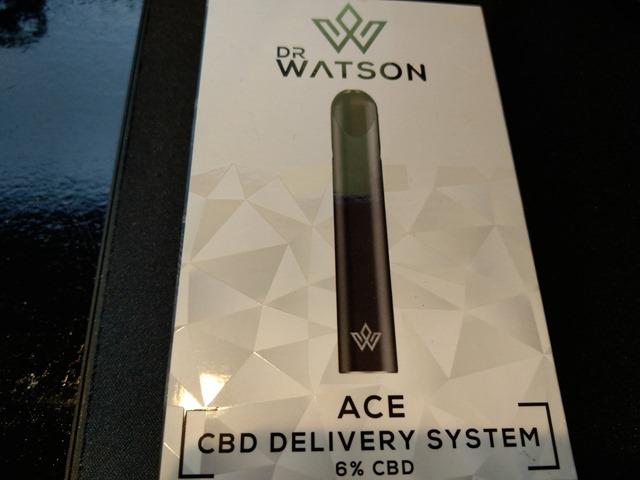 IMAG9700 thumb 1 - 【レビュー】DR.WATSON(ドクターワトソン)CBDリキッド&「ACE CBD DELIVERY SYSTEM」スターターキットレビュー!CBD濃度を感じながらもしっかりフレーバーの出るスターターとリキッド。