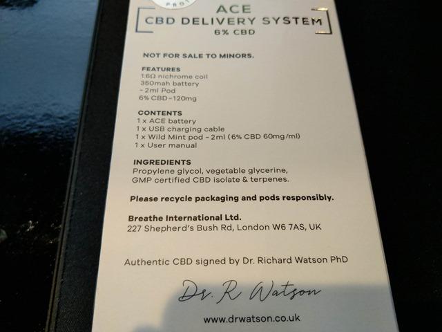 IMAG9701 thumb - 【レビュー】DR.WATSON(ドクターワトソン)CBDリキッド&「ACE CBD DELIVERY SYSTEM」スターターキットレビュー!CBD濃度を感じながらもしっかりフレーバーの出るスターターとリキッド。
