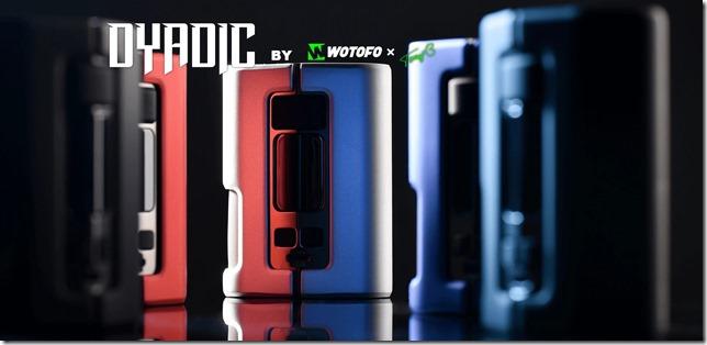 wotofo dyadic squonk mod banner thumb - 【レビュー】Wotofo DYADIC BOX MOD(ウォトフォ ダイアディック ボックスモッド)レビュー〜wotofo謹製!!爆煙アトマイザー専用大容量スコンクモッド登場(ΦдΦ)編【MOD】