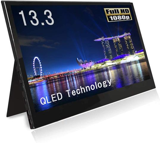 61L gSvEVXL. AC SL1033 thumb - 【レビュー】QLED搭載恵安(KEIAN)13.3インチフルHDモバイル液晶モニターレビュー。HDMI/USB Type-C2つ搭載、スマホからの給電にも対応したスグレモノモニタ!