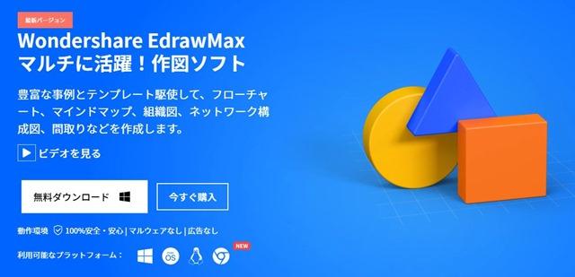 Software thumb - 【レビュー】「Wondershare EdrawMax(エドラマックス)」使ってみたレビュー。これで物件間取りからフローチャートまでパワフルに製図できる作図ソフトウェアの決定版!【ワンダーシェア】