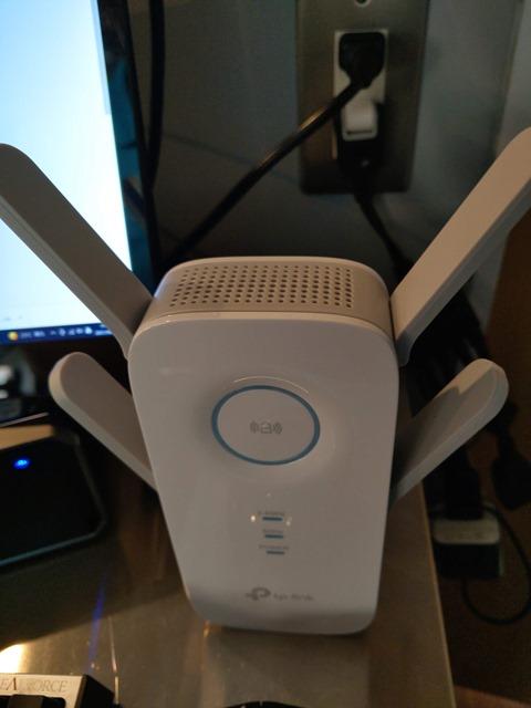IMAG4836 thumb 1 - 【レビュー】TP-Link RE650 Wi-Fiエクステンダー AC2600 MU-MIMO 無線LAN中継器をレビュー。電源さしてスマホでポン!超簡単設定のエクステンダー