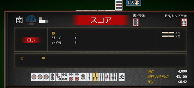 score thumb - 【ゲーム】オンライン麻雀:スキル、それとも運?無料それとも娯楽?